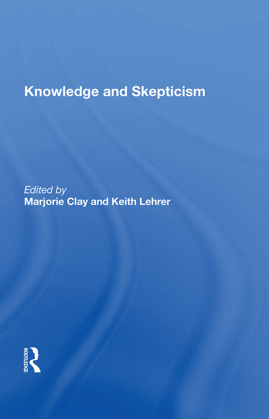 Knowledge and Skepticism book cover