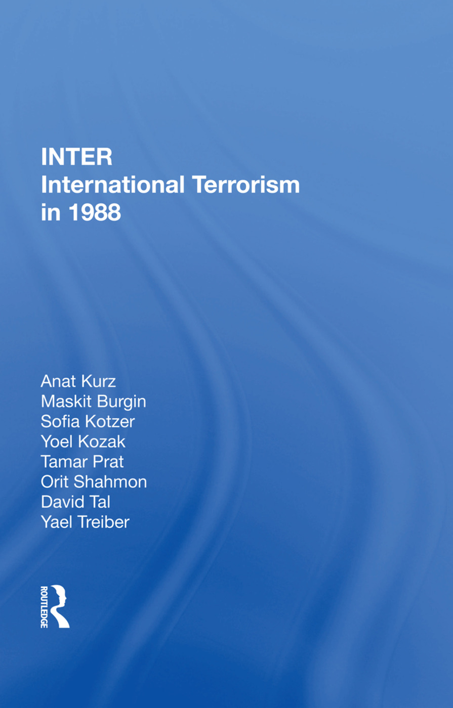 International Terrorism In 1988: 1st Edition (Hardback) book cover
