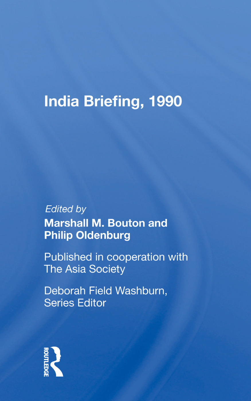 India Briefing, 1990: 1st Edition (Hardback) book cover