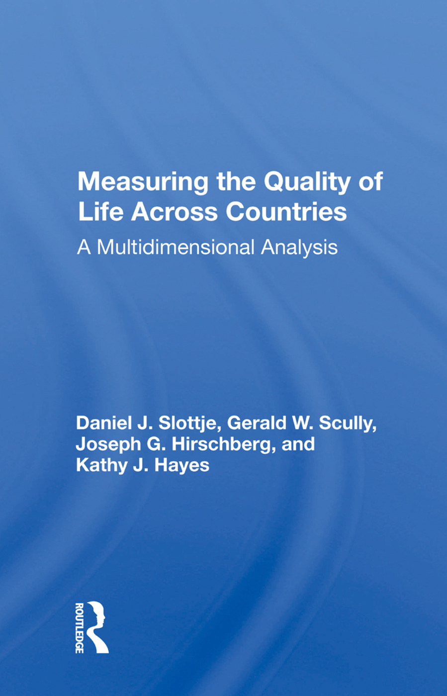 Measuring The Quality Of Life Across Countries: A Multidimensional Analysis, 1st Edition (Paperback) book cover