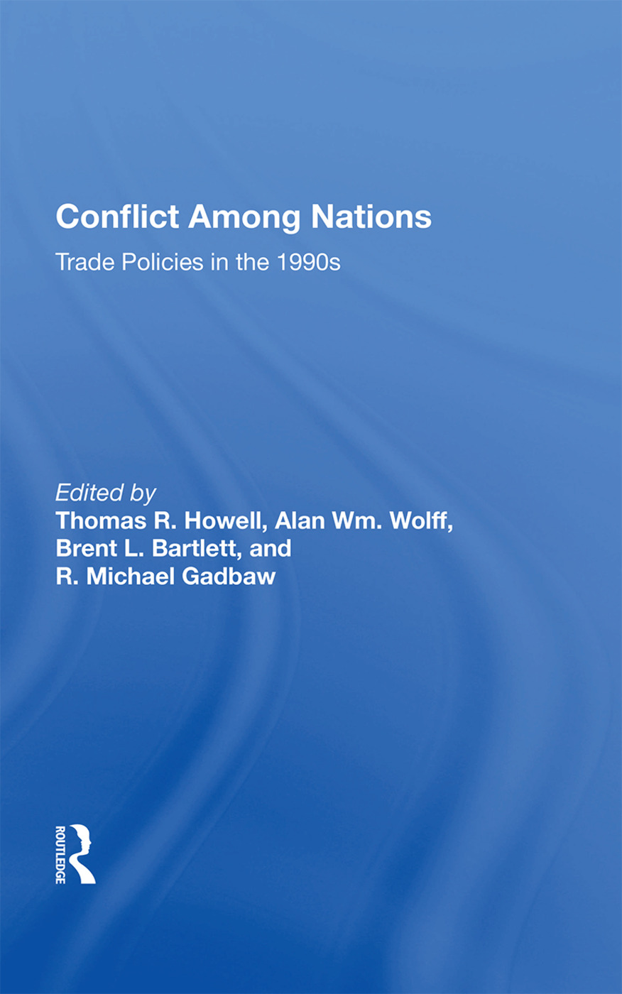 Conflict Among Nations: Trade Policies In The 1990s, 1st Edition (Paperback) book cover