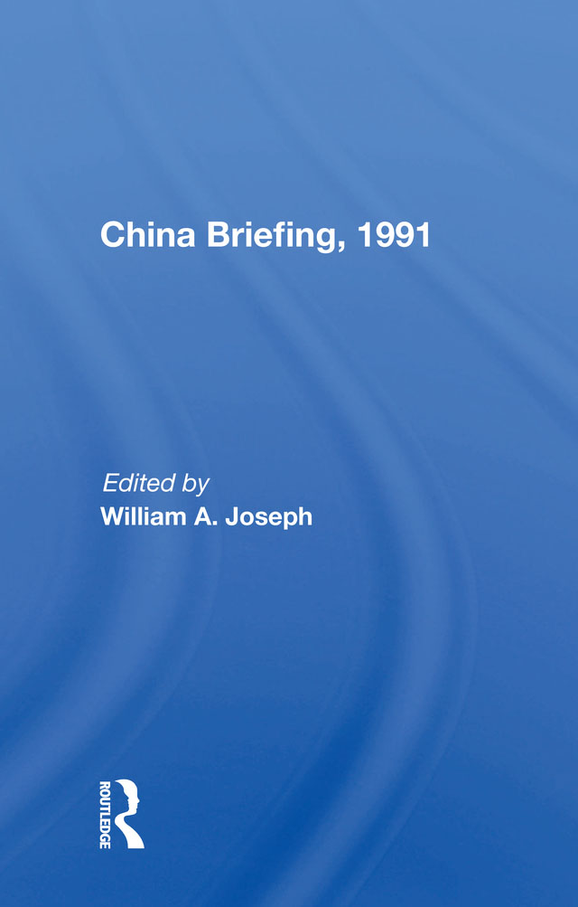 China Briefing, 1991: 1st Edition (Paperback) book cover