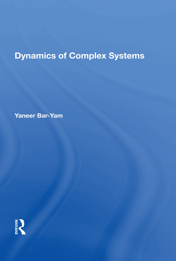 Dynamics Of Complex Systems: 1st Edition (Paperback) book cover