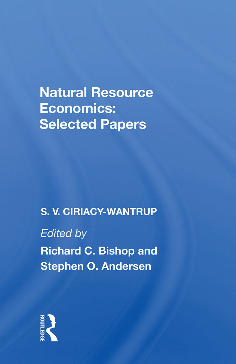 Natural Resource Economics: Selected Papers book cover