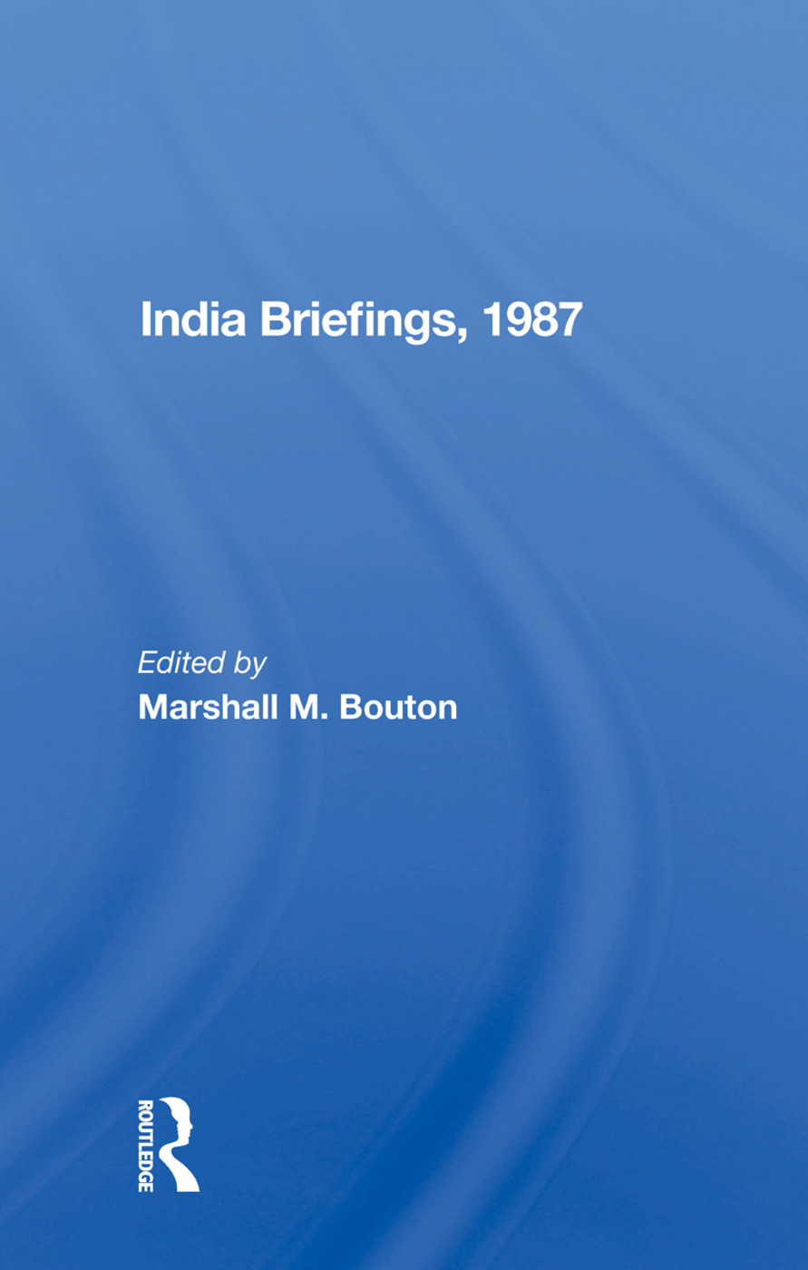 India Briefing, 1987: 1st Edition (Paperback) book cover