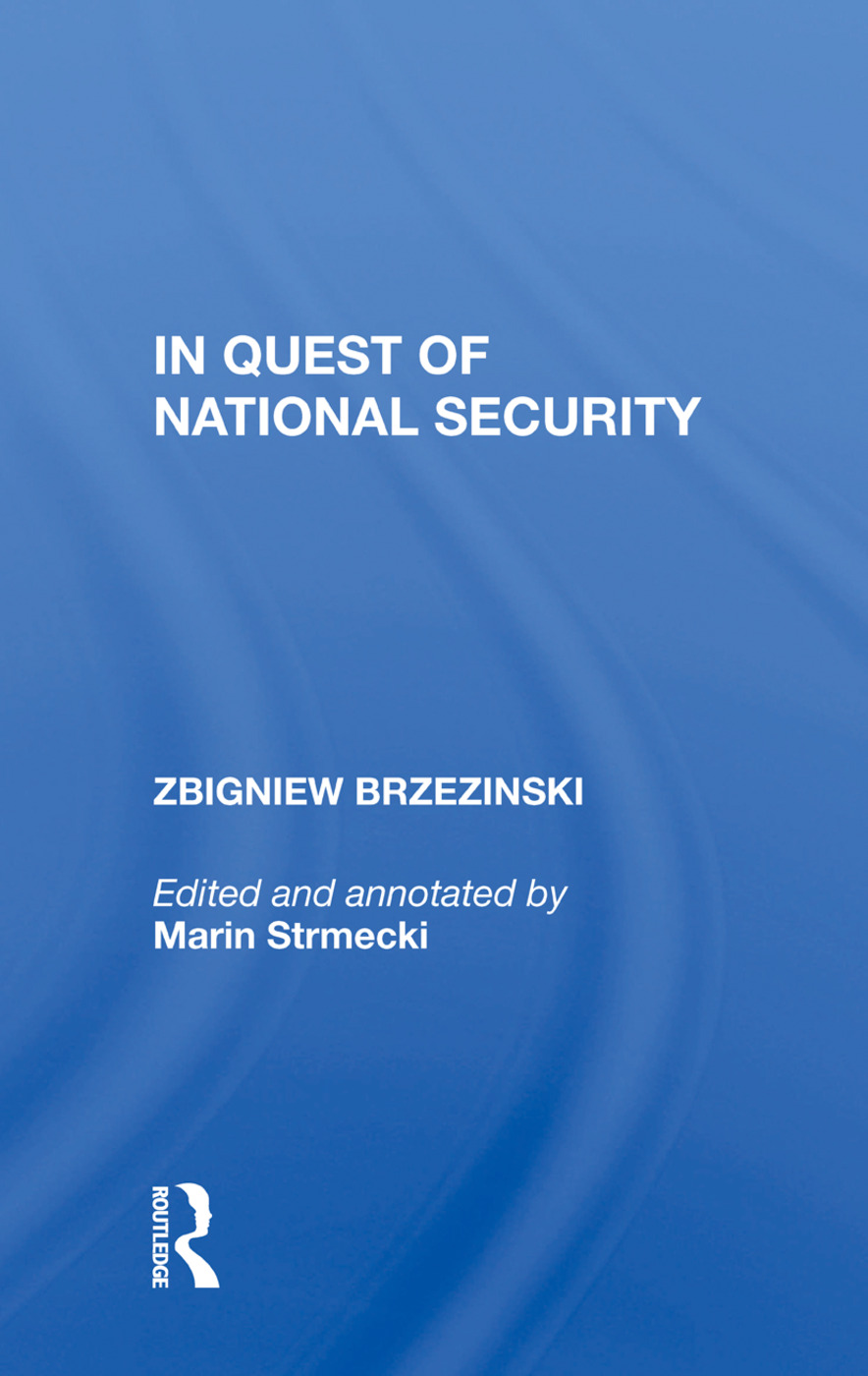 In Quest Of National Security: 1st Edition (Paperback) book cover