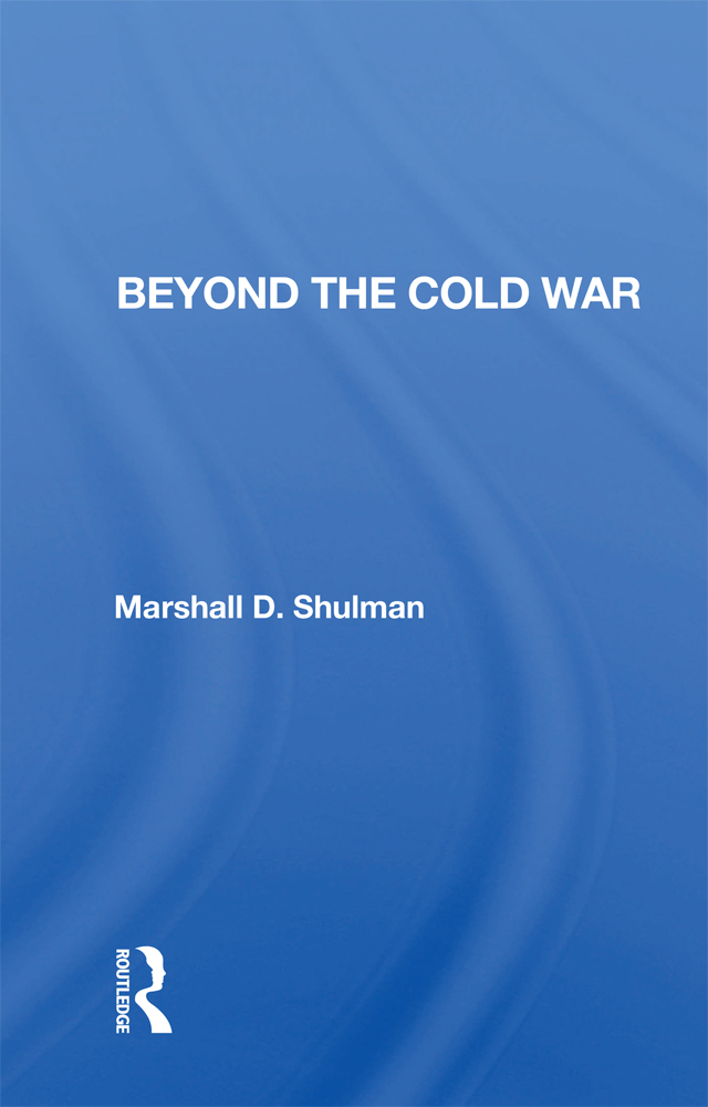 Beyond the Cold War book cover