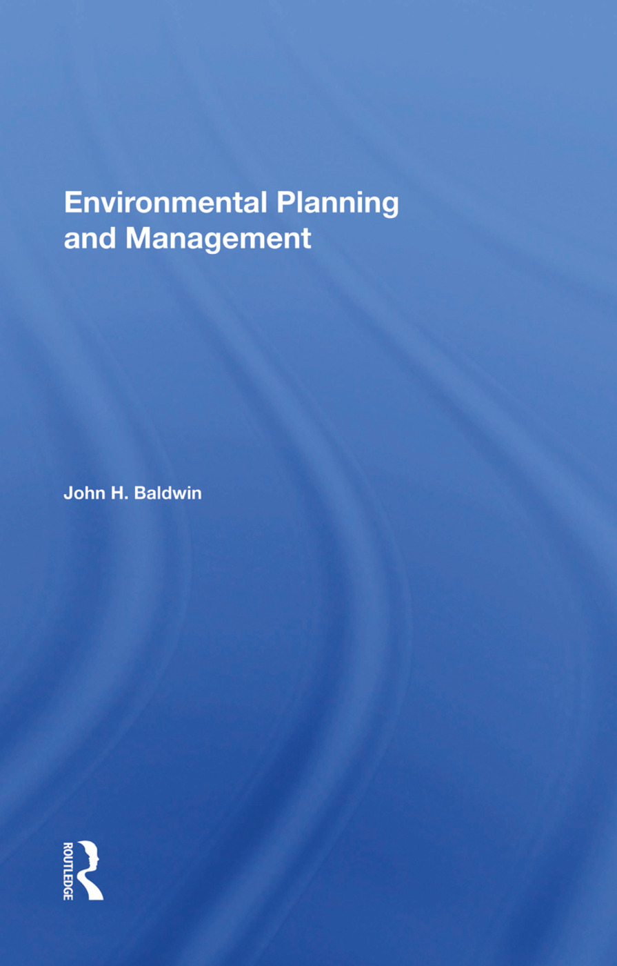 Environmental Planning And Management book cover