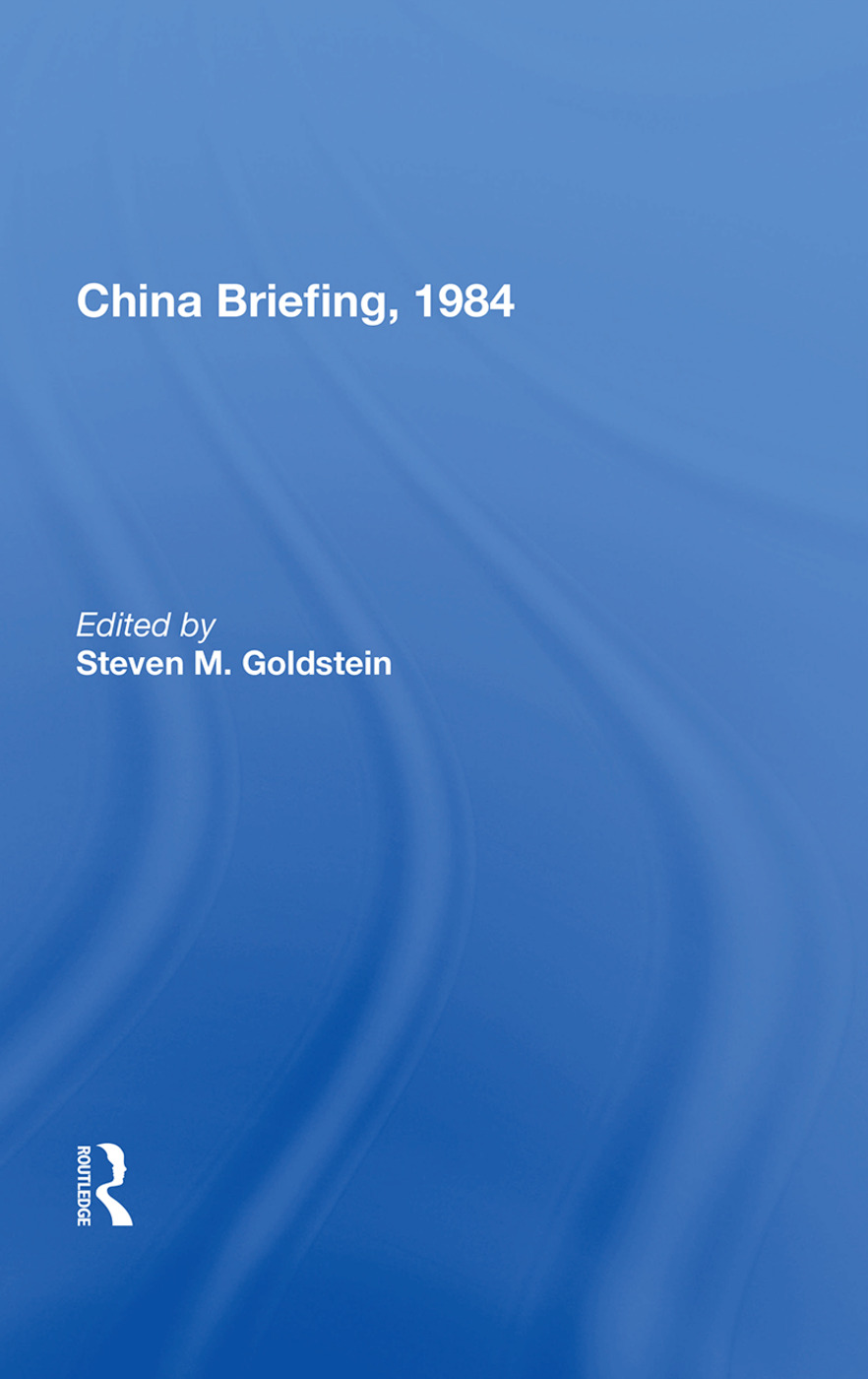 China Briefing, 1984 book cover