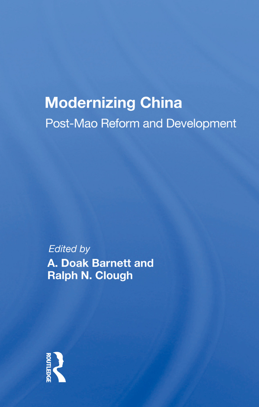 Modernizing China: Post-Mao Reform and Development book cover