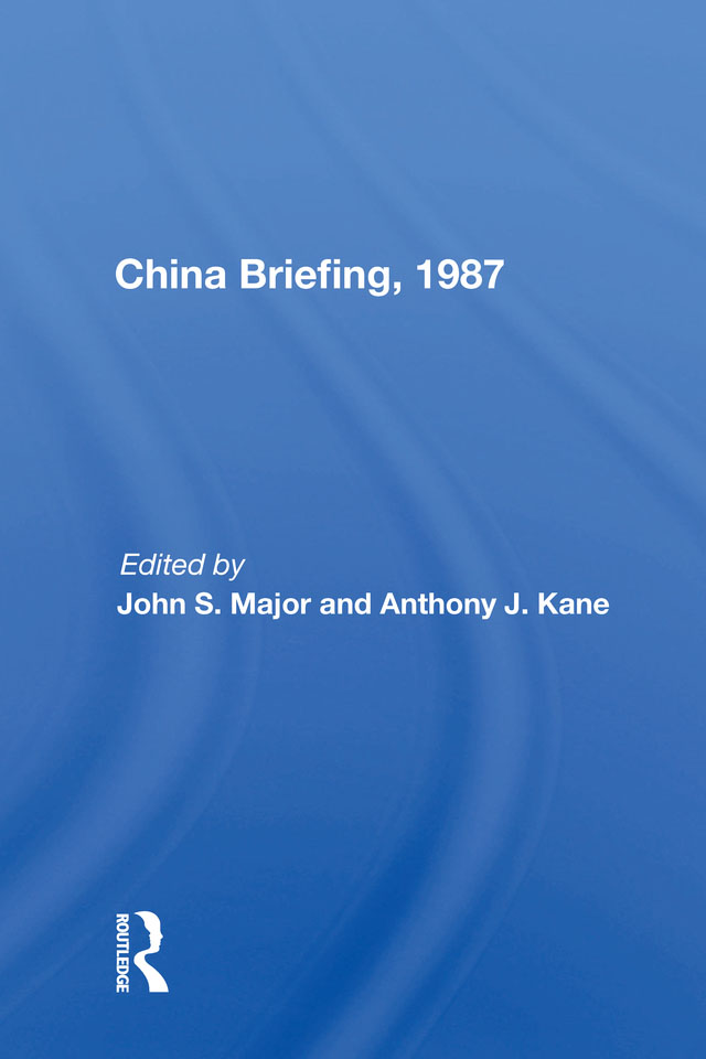 China Briefing, 1987: 1st Edition (Paperback) book cover