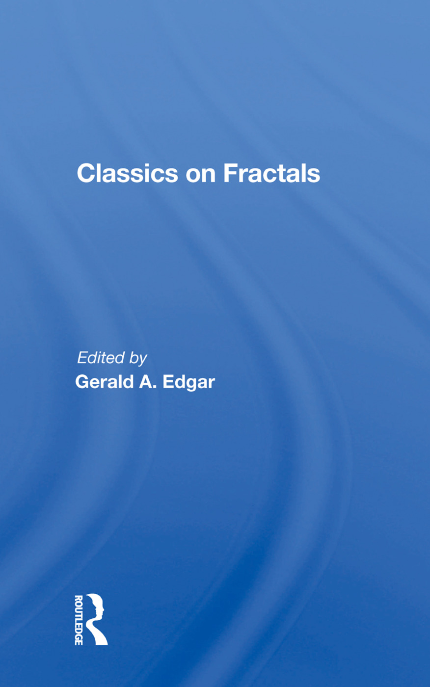 Classics On Fractals: 1st Edition (Paperback) book cover