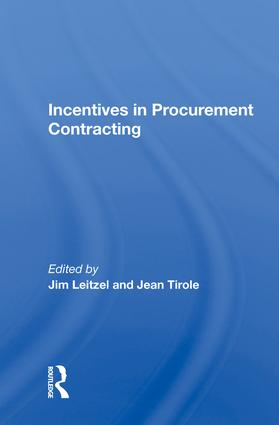 Incentives In Procurement Contracting book cover