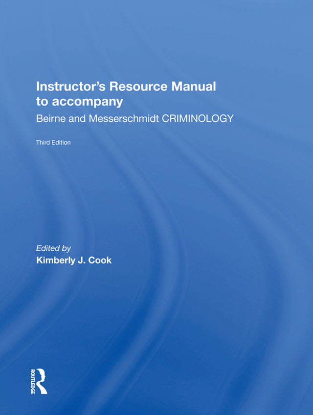 Instructor's Manual To Accompany Criminology book cover