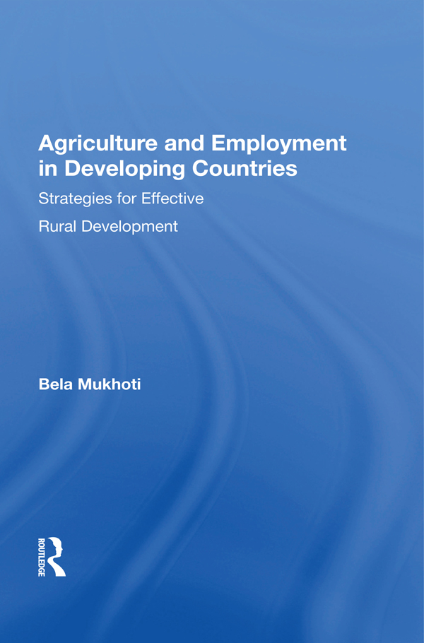 Agriculture And Employment In Developing Countries: Strategies For Effective Rural Development book cover