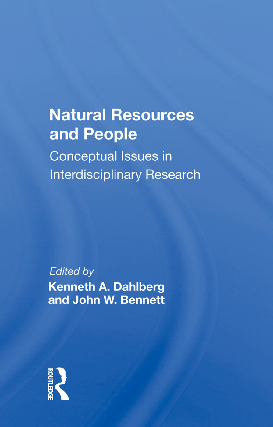 Natural Resources And People: Conceptual Issues In Interdisciplinary Research, 1st Edition (Paperback) book cover