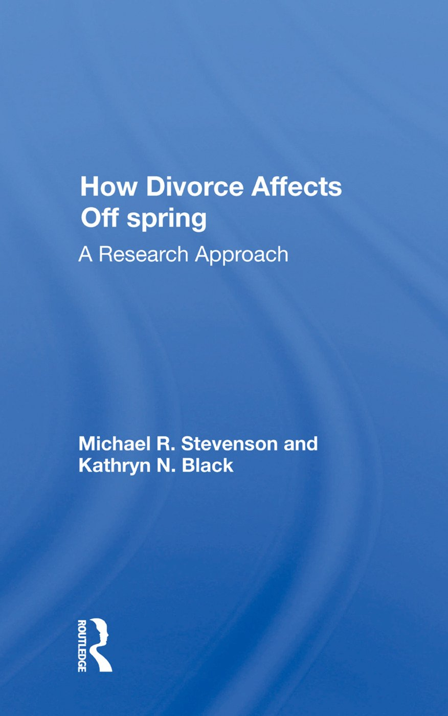 How Divorce Affects Offspring: A Research Approach book cover