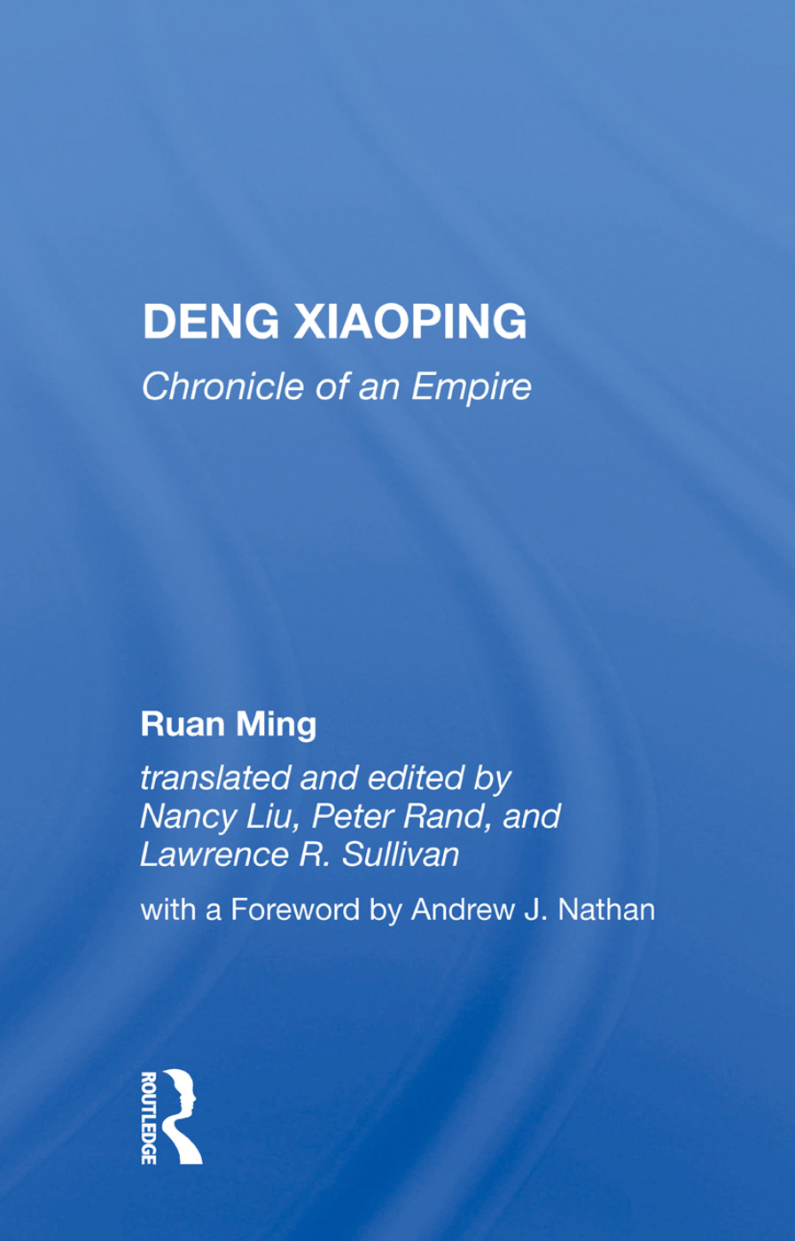 Deng Xiaoping: Chronicle of an Empire, 1st Edition (Hardback) book cover