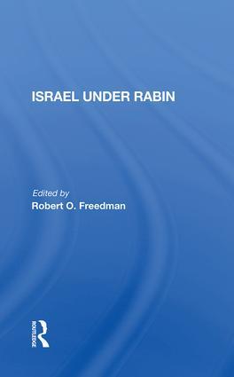 Israel Under Rabin: 1st Edition (e-Book) book cover