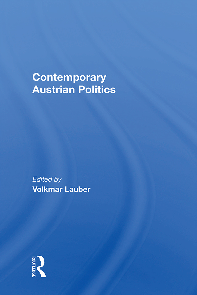 Contemporary Austrian Politics: 1st Edition (Paperback) book cover