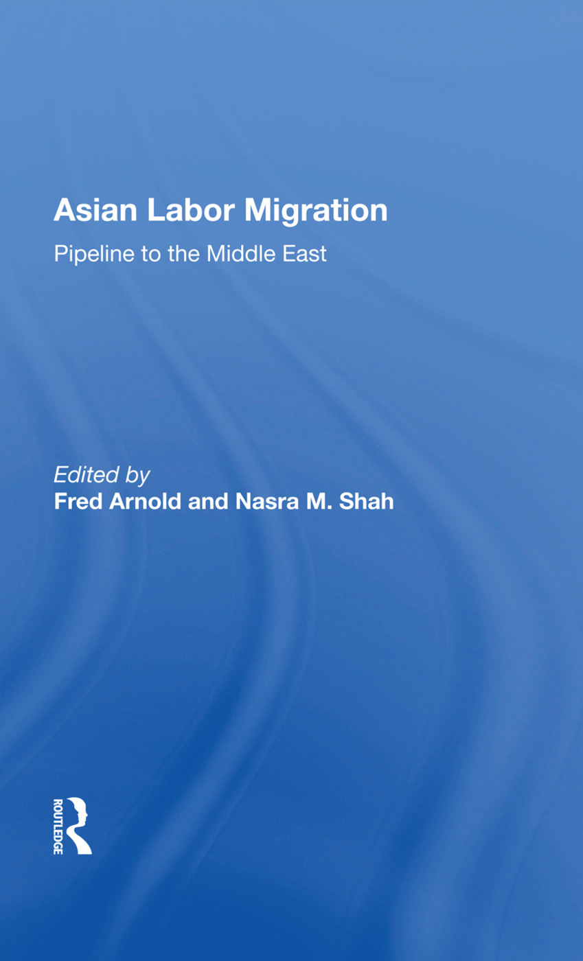 Asian Labor Migration: Pipeline To The Middle East, 1st Edition (Paperback) book cover