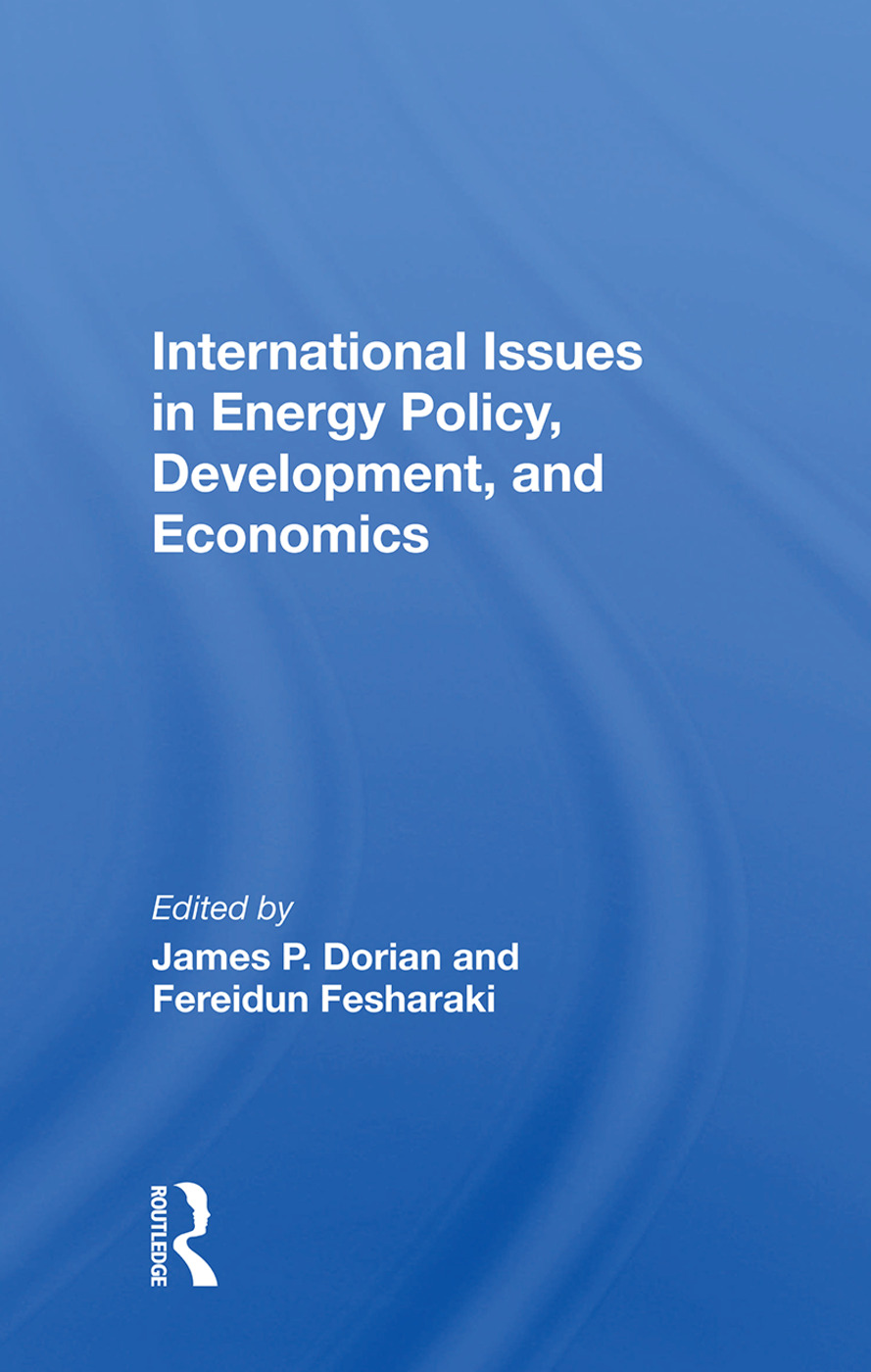 International Issues In Energy Policy, Development, And Economics book cover
