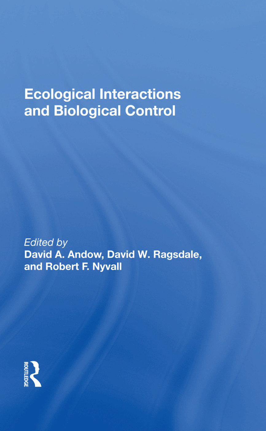 Ecological Interactions And Biological Control: 1st Edition (Paperback) book cover