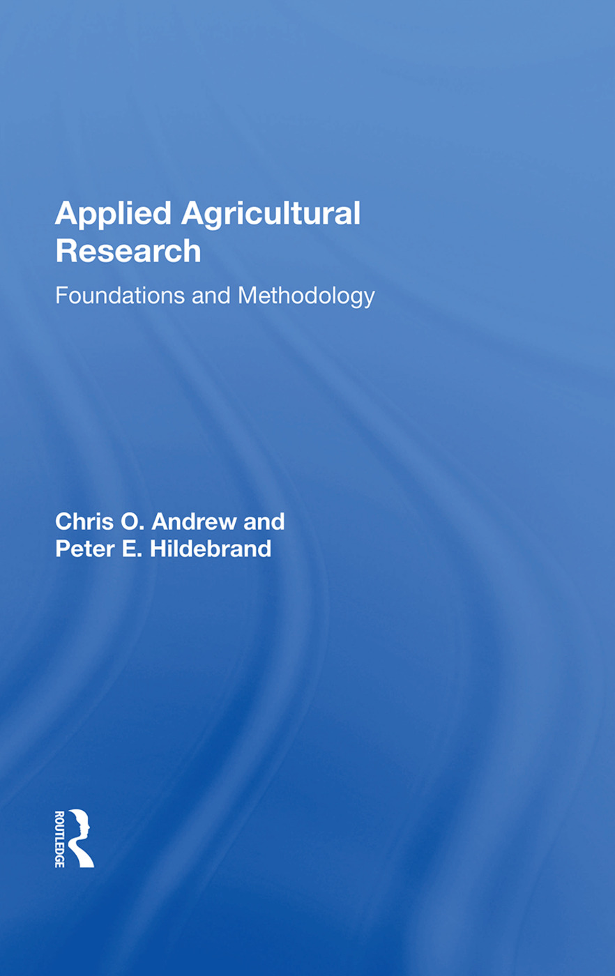 Applied Agricultural Research: Foundations And Methodology, 1st Edition (Hardback) book cover