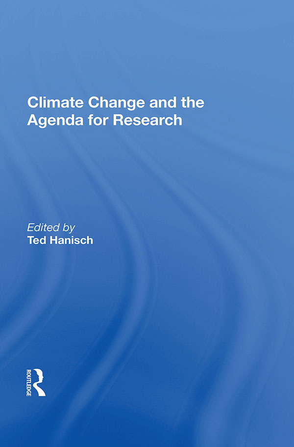 Climate Change and the Agenda for Research: 1st Edition (Hardback) book cover
