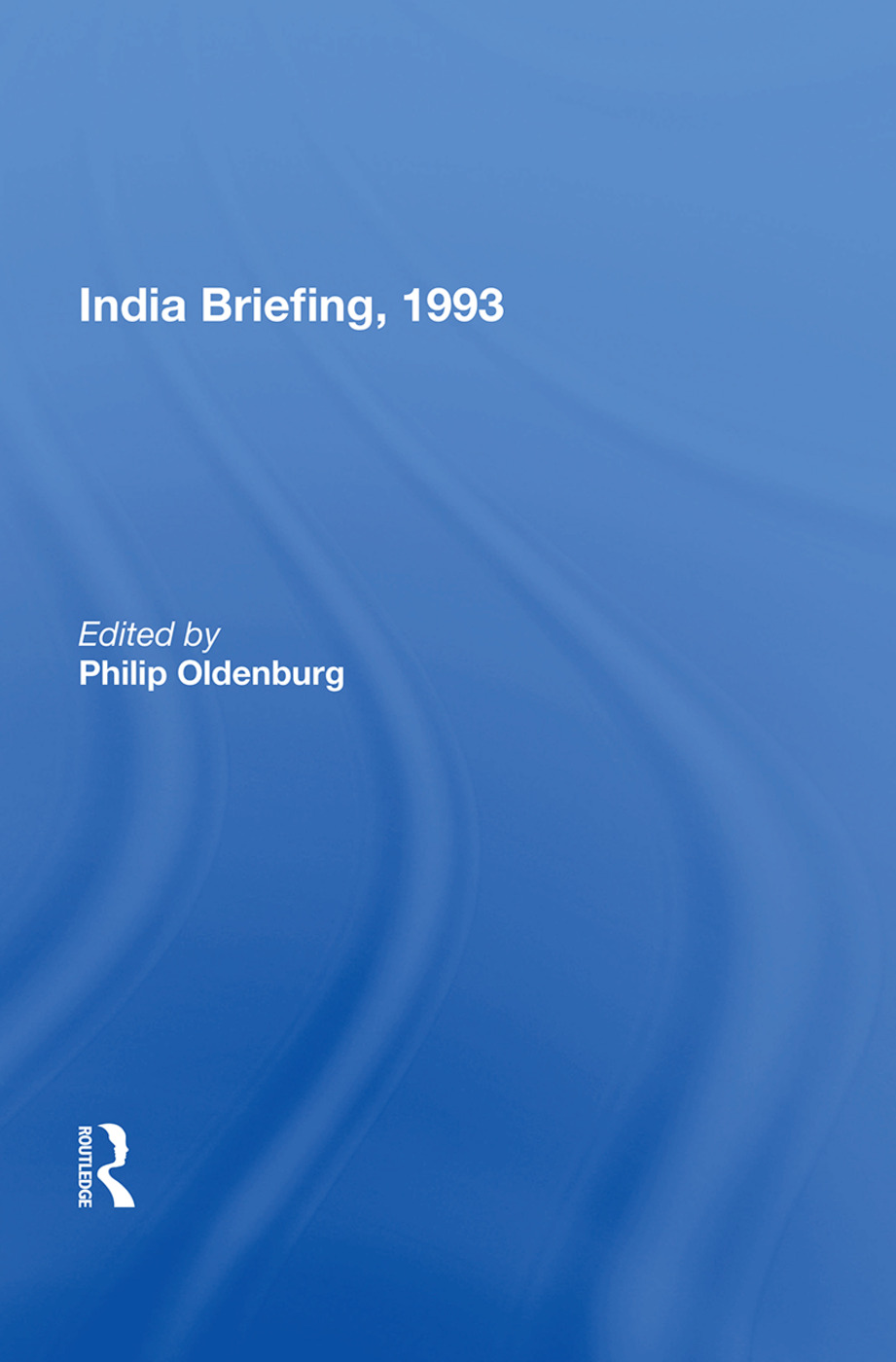 India Briefing, 1993: 1st Edition (Paperback) book cover