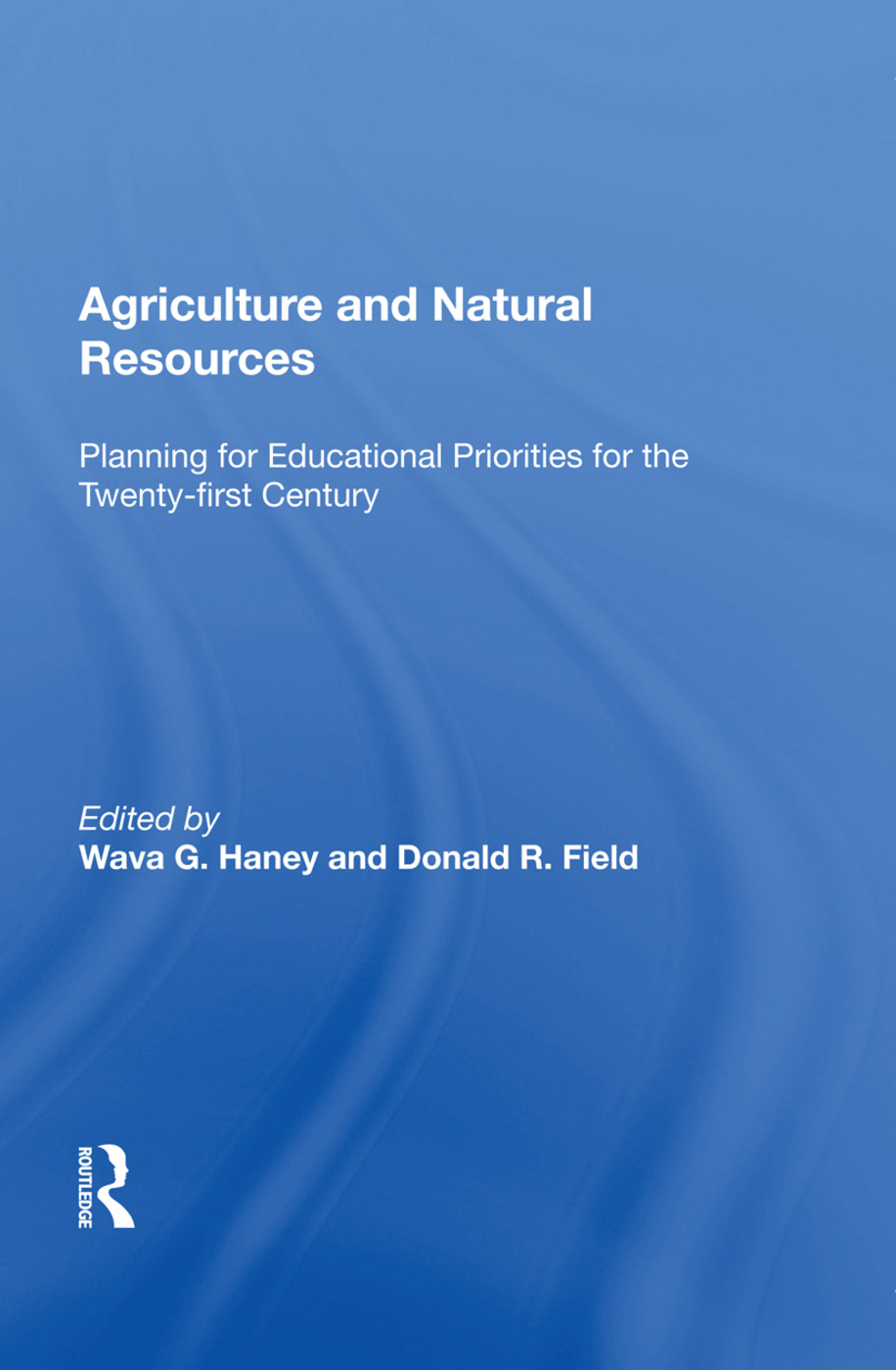 Agriculture and Natural Resources: Planning for Educational Priorities for the Twenty-first Century book cover