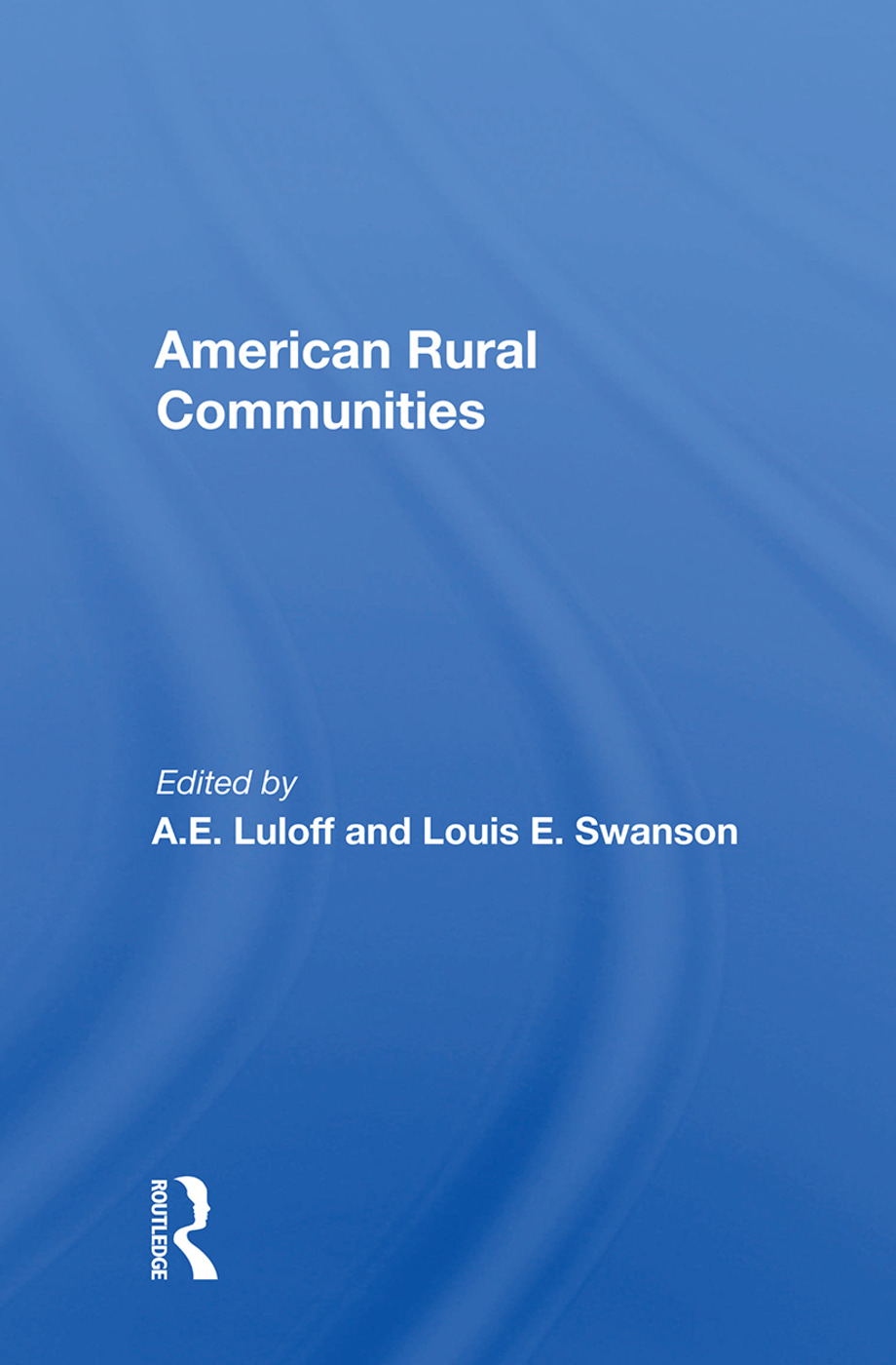 American Rural Communities: 1st Edition (e-Book) book cover