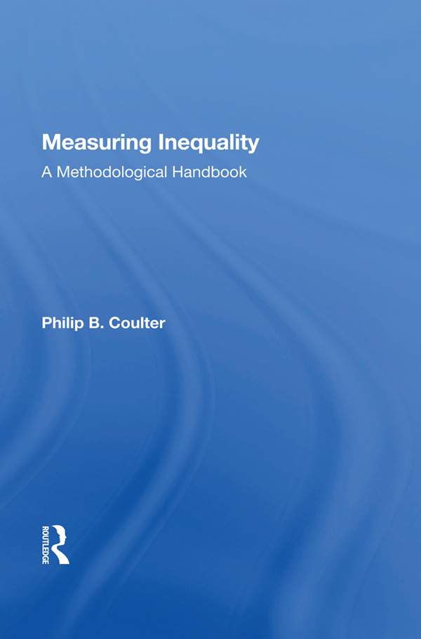 Measuring Inequality: A Methodological Handbook book cover