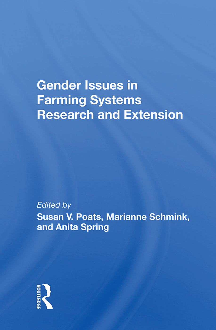 Gender Issues In Farming Systems Research And Extension: 1st Edition (Paperback) book cover