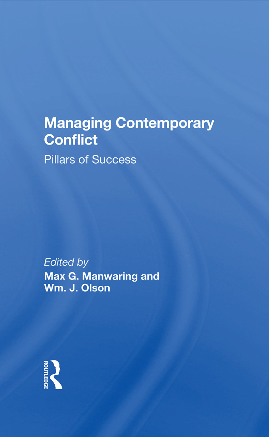 Managing Contemporary Conflict: Pillars Of Success, 1st Edition (Hardback) book cover