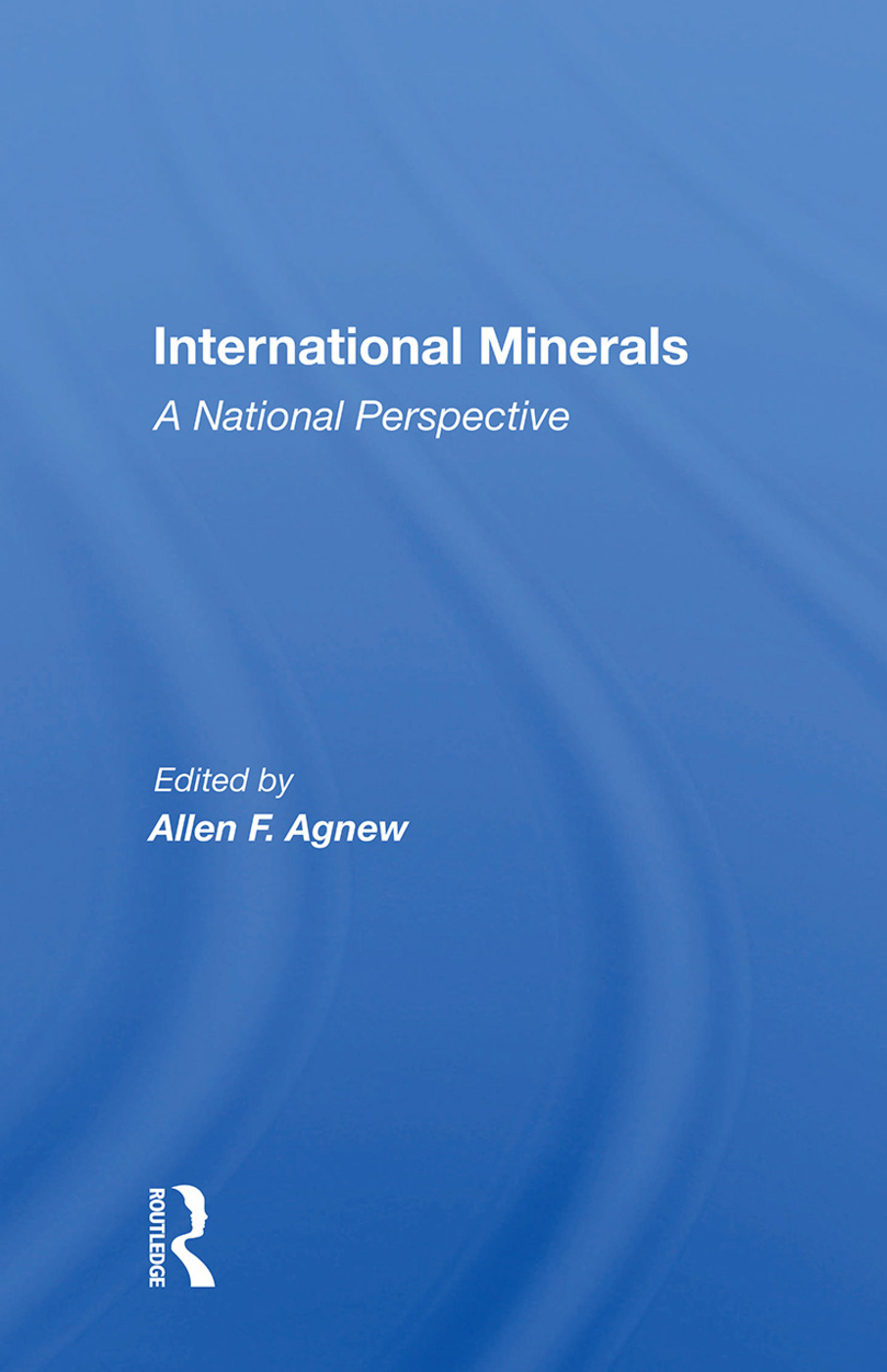 International Minerals: A National Perspective, 1st Edition (Hardback) book cover