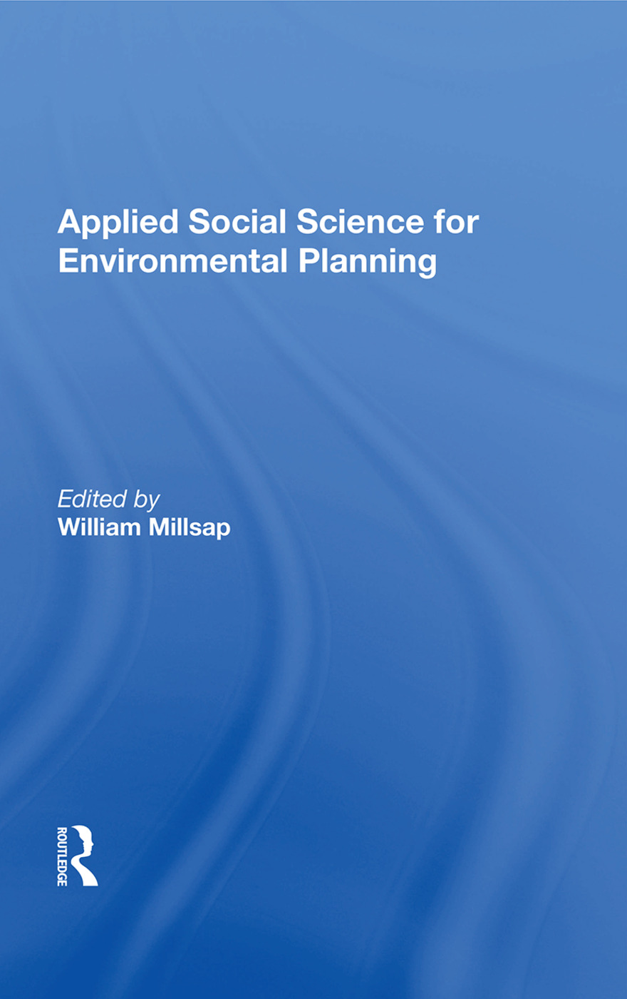 Applied Social Science For Environmental Planning: 1st Edition (Paperback) book cover