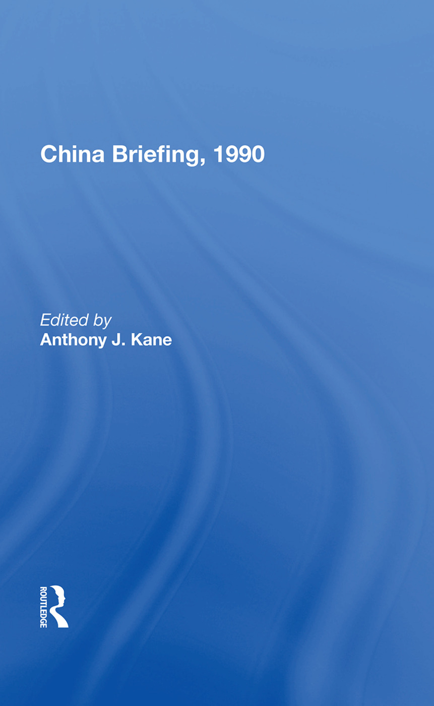 China Briefing, 1990 book cover
