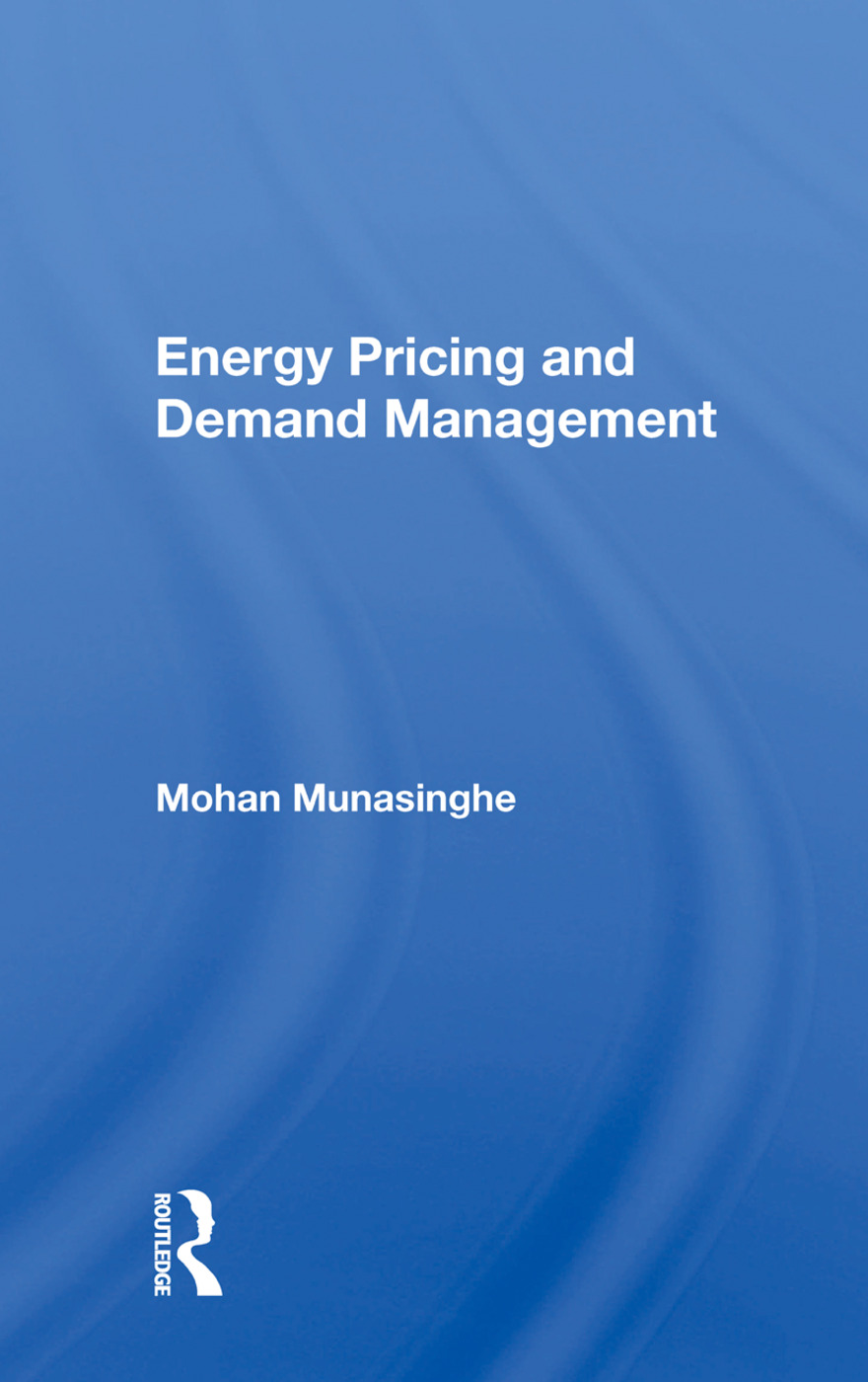 Energy Pricing And Demand Management: 1st Edition (Paperback) book cover