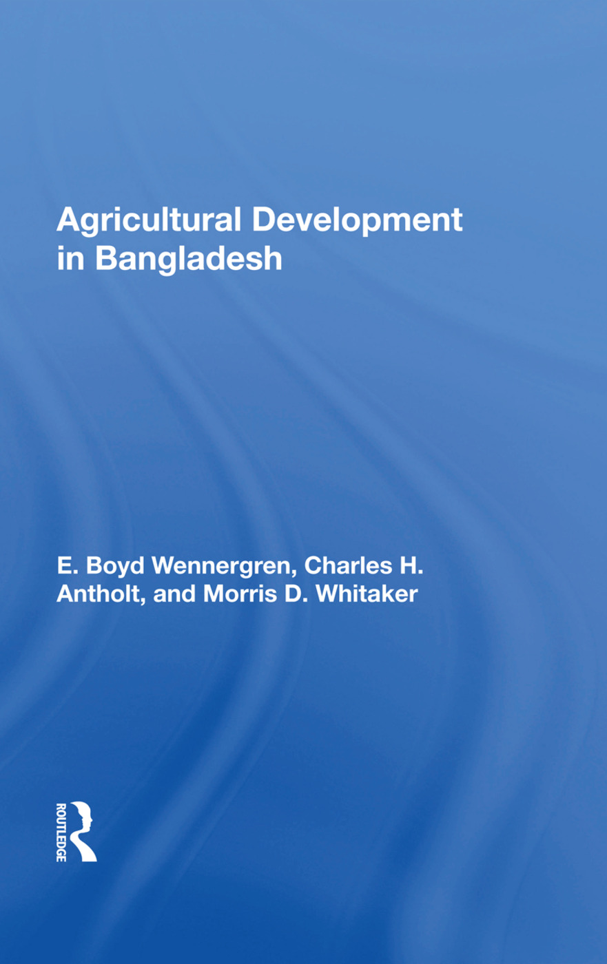 Agricultural Development In Bangladesh: Prospects For The Future book cover