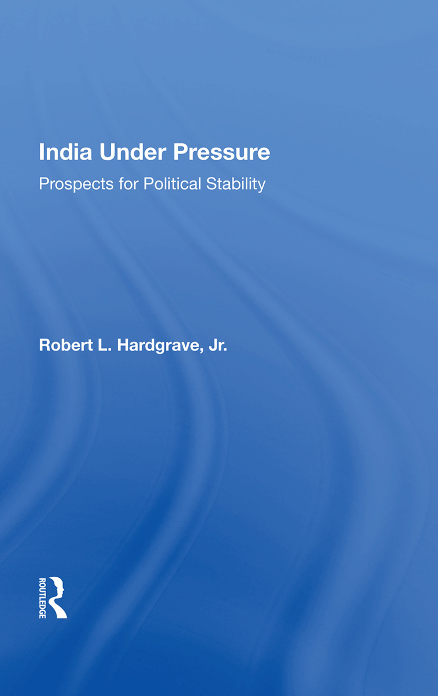 India Under Pressure: Prospects For Political Stability, 1st Edition (Paperback) book cover