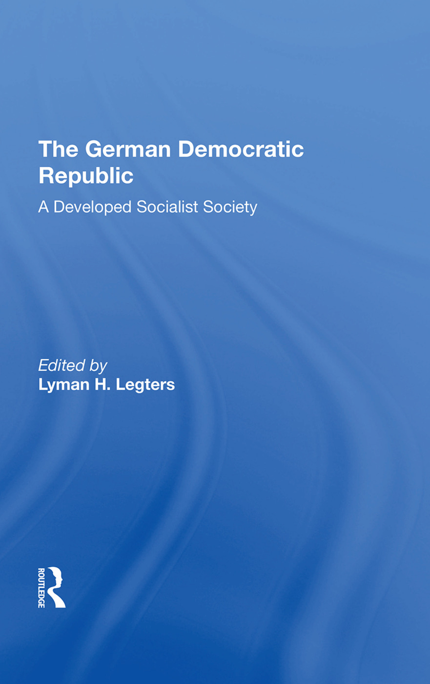 German Democratic Republ/h: 1st Edition (Paperback) book cover