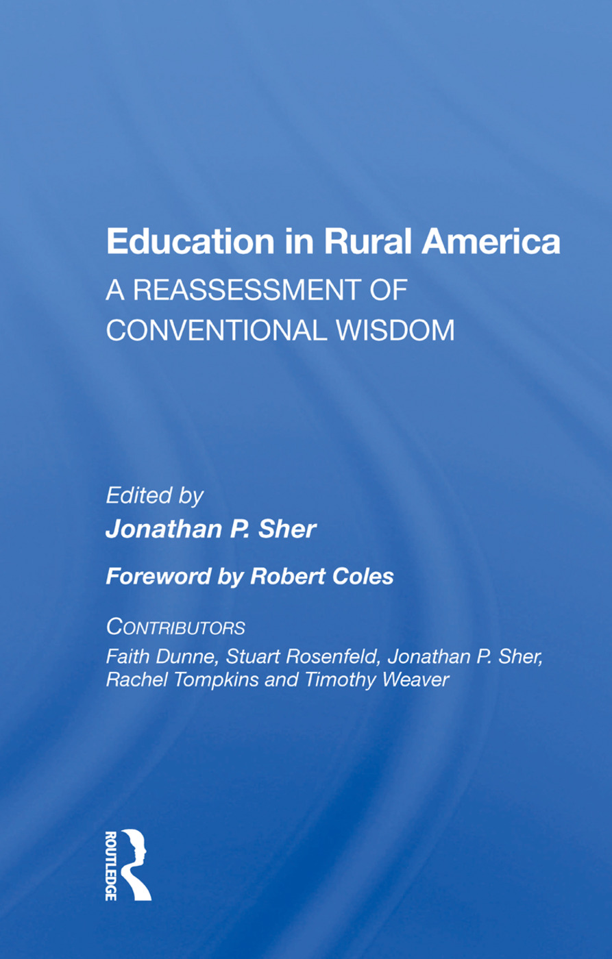 Education In Rural America: A Reassessment Of Conventional Wisdom, 1st Edition (Paperback) book cover