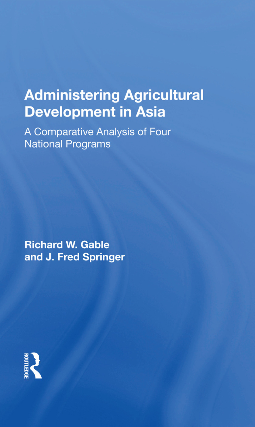 Administering Agricultur/h: 1st Edition (Paperback) book cover