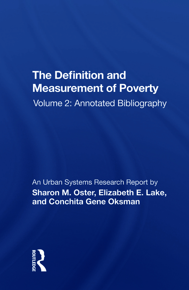 Def-measuremnt Poverty-2/h: 1st Edition (Paperback) book cover