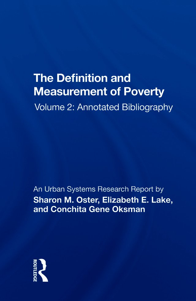 The Definition and Measurement of Poverty