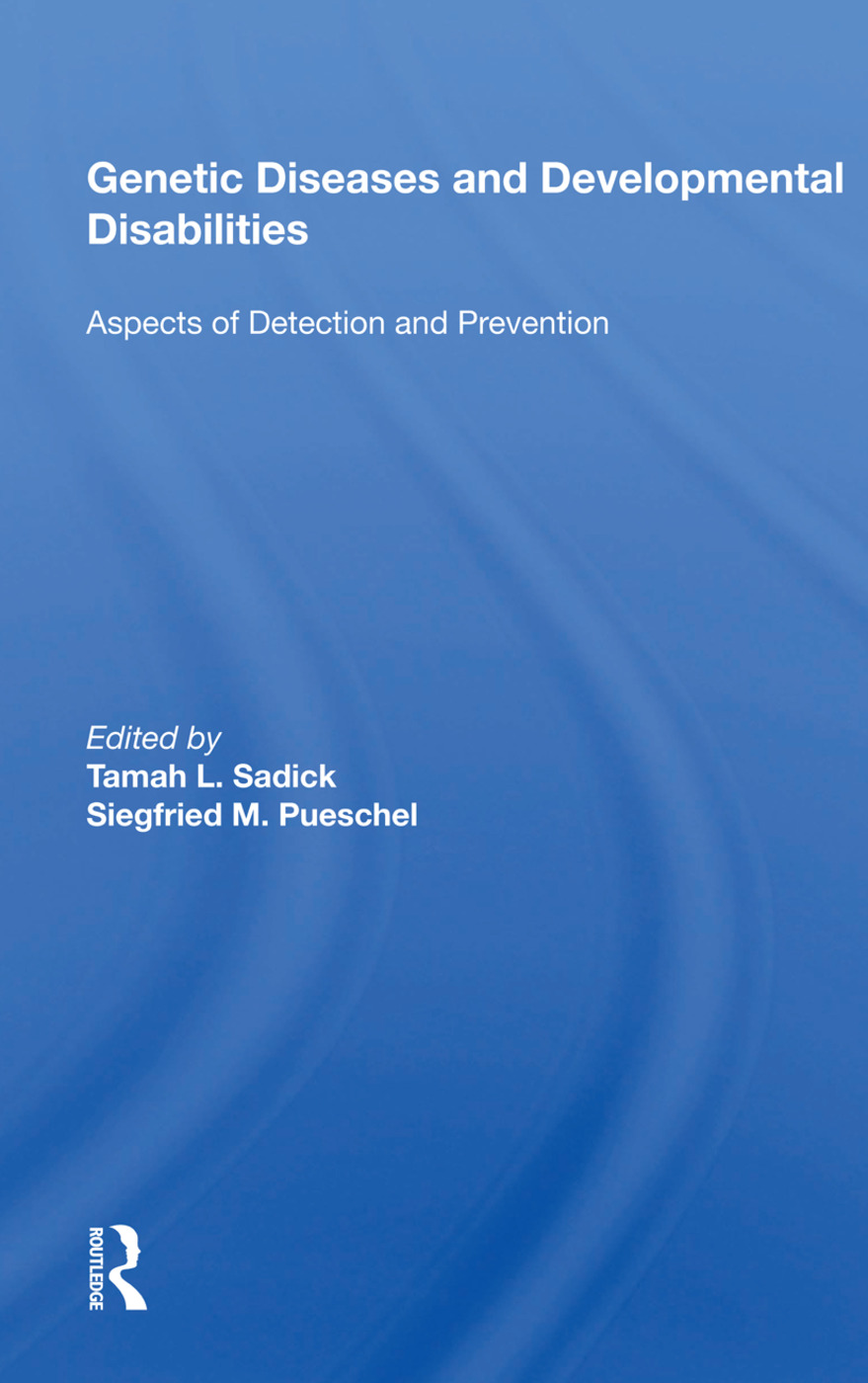 Genetic Diseases And Development Disabilities: Aspects Of Detection And Prevention: 1st Edition (Paperback) book cover