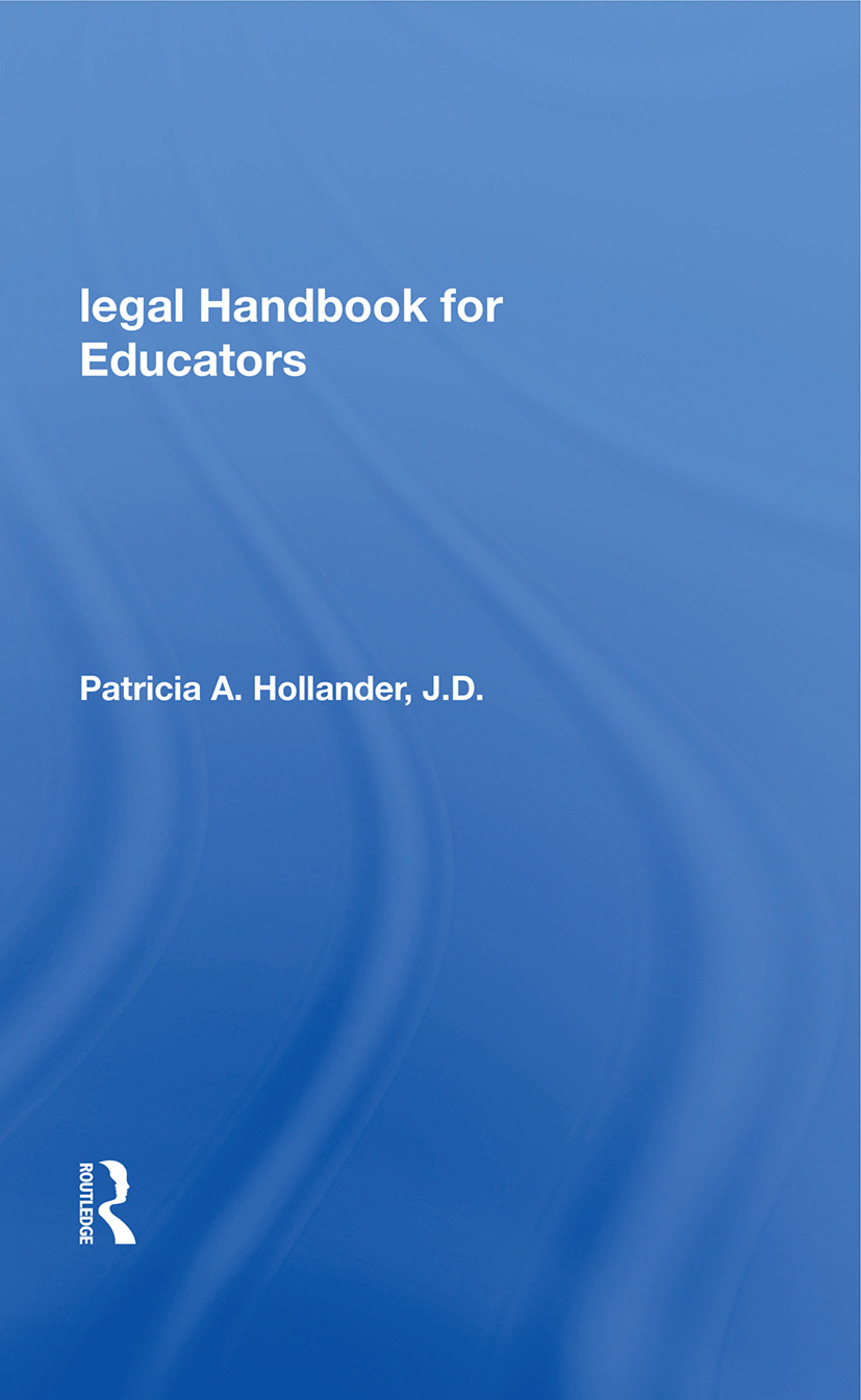 Legal Handbook For Educators: 1st Edition (Paperback) book cover