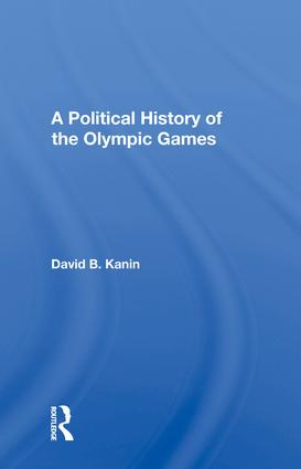 A Political History Of The Olympic Games book cover