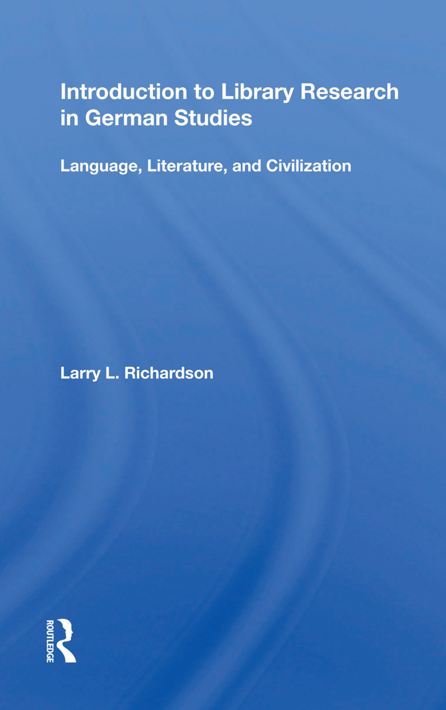 Introduction to Library Research in German Studies: